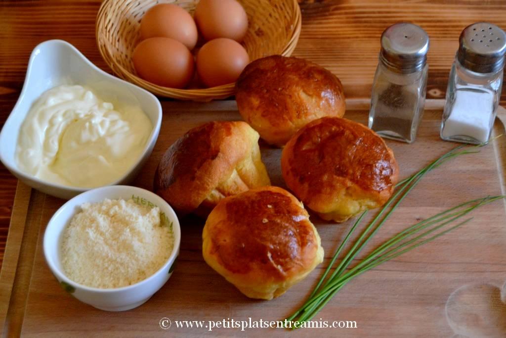 ingrédients pour oeuf cocotte en brioche