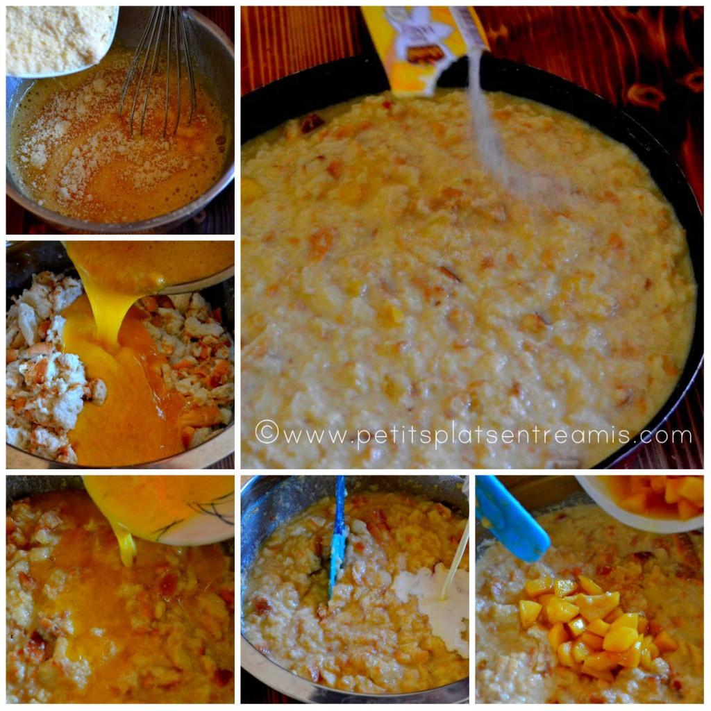 préparation du pudding aux pommes
