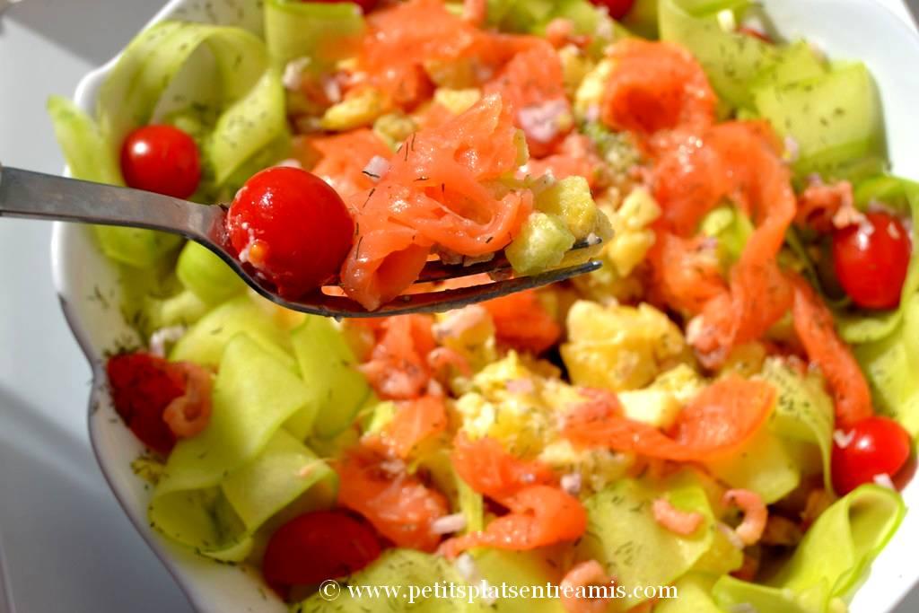 bouchée de salade scandinave