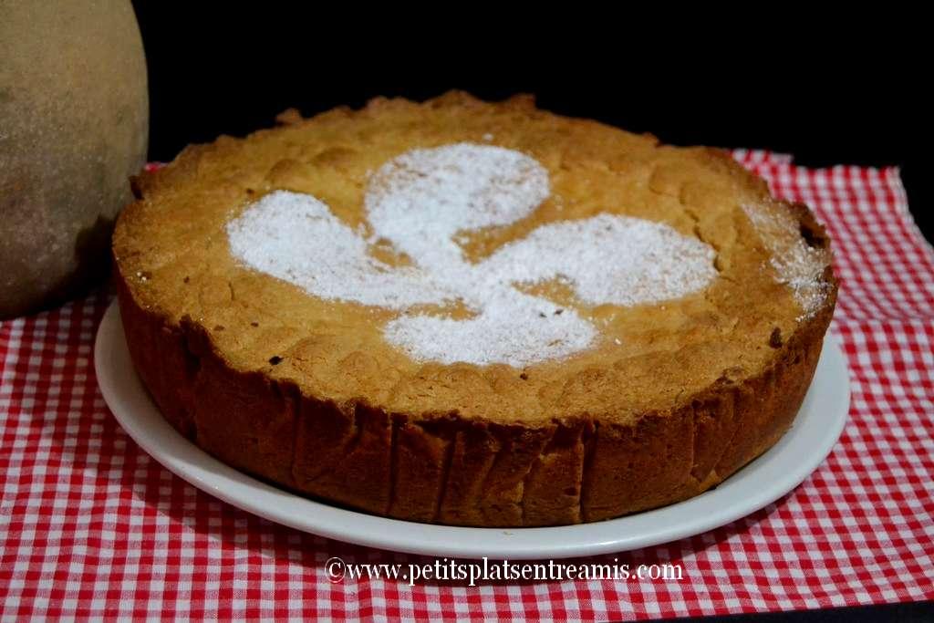 gâteau basque servi