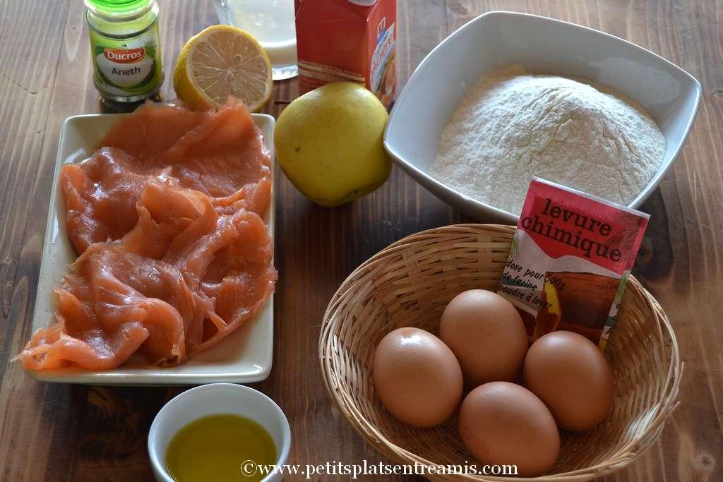 ingrédients pour cake au saumon