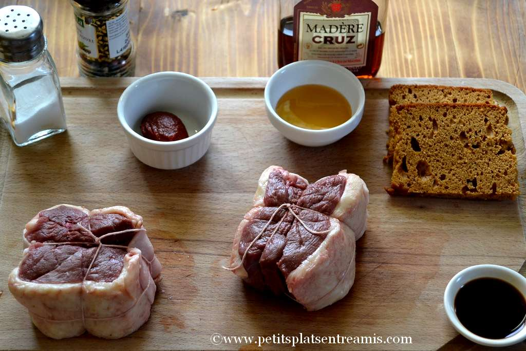 ingrédients pour tournedos de canard