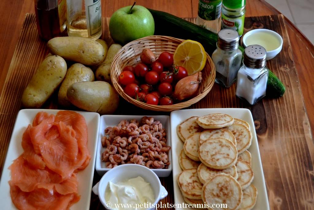 ingrédients salade nordique