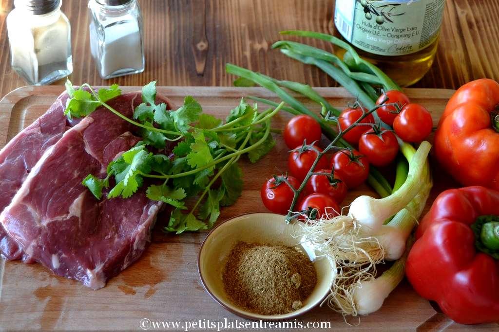 ingrédients tranches de gigot d'agneau au cumin