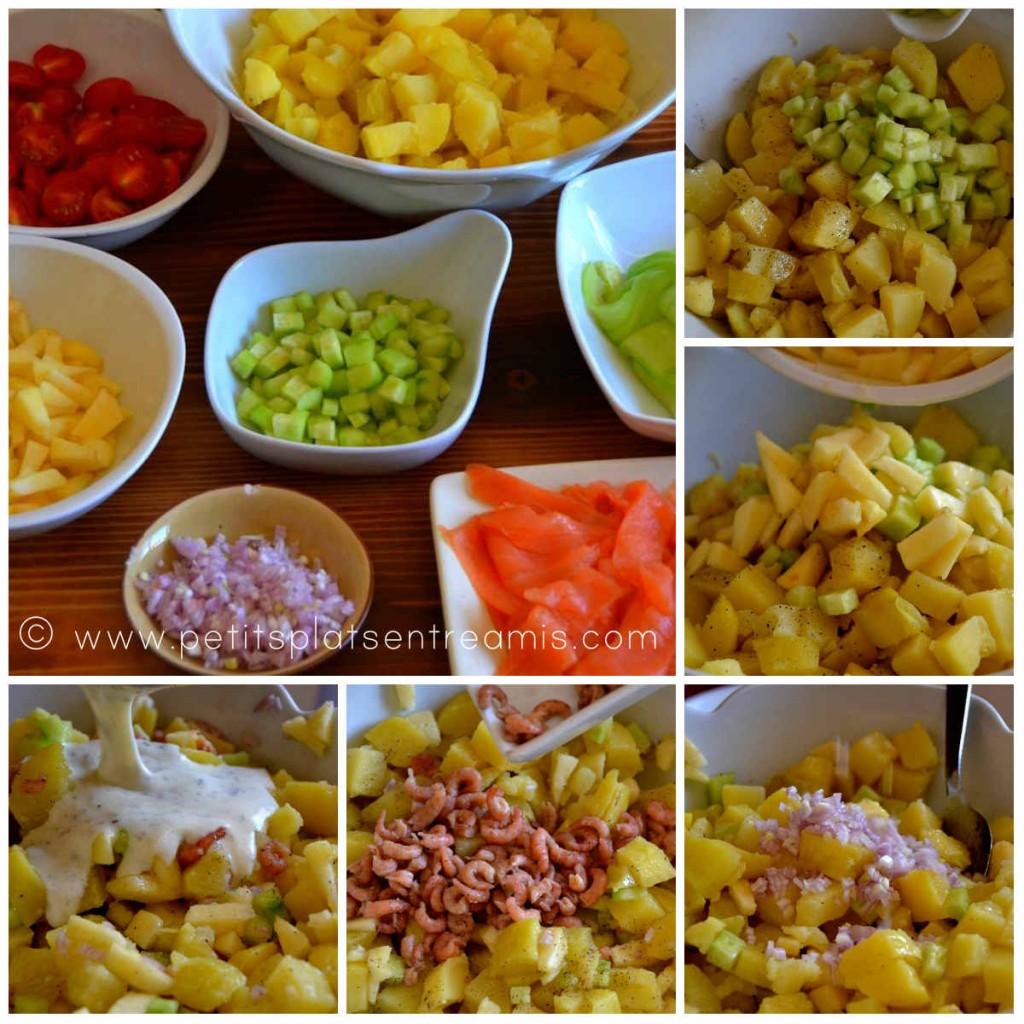 montage salade de pommes de terre