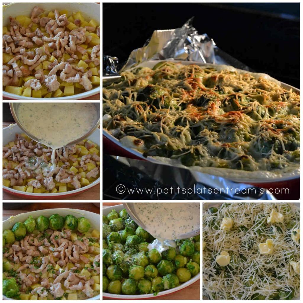 préparation et cuisson du gratin