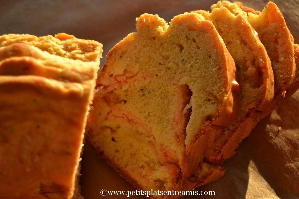 tranches de cake au saumon