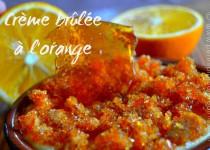Crème brûlée à l'orange