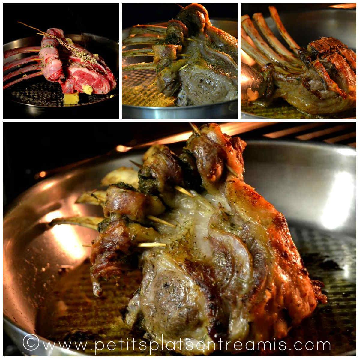 cuisson du carré d'agneau