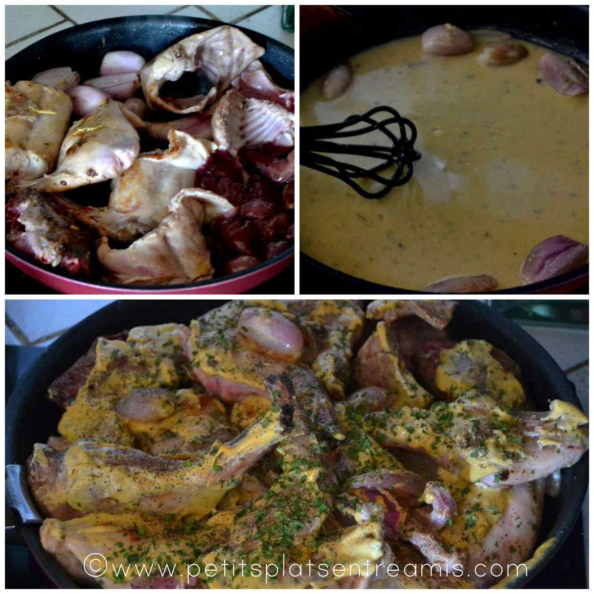 cuisson du lapin à la moutarde