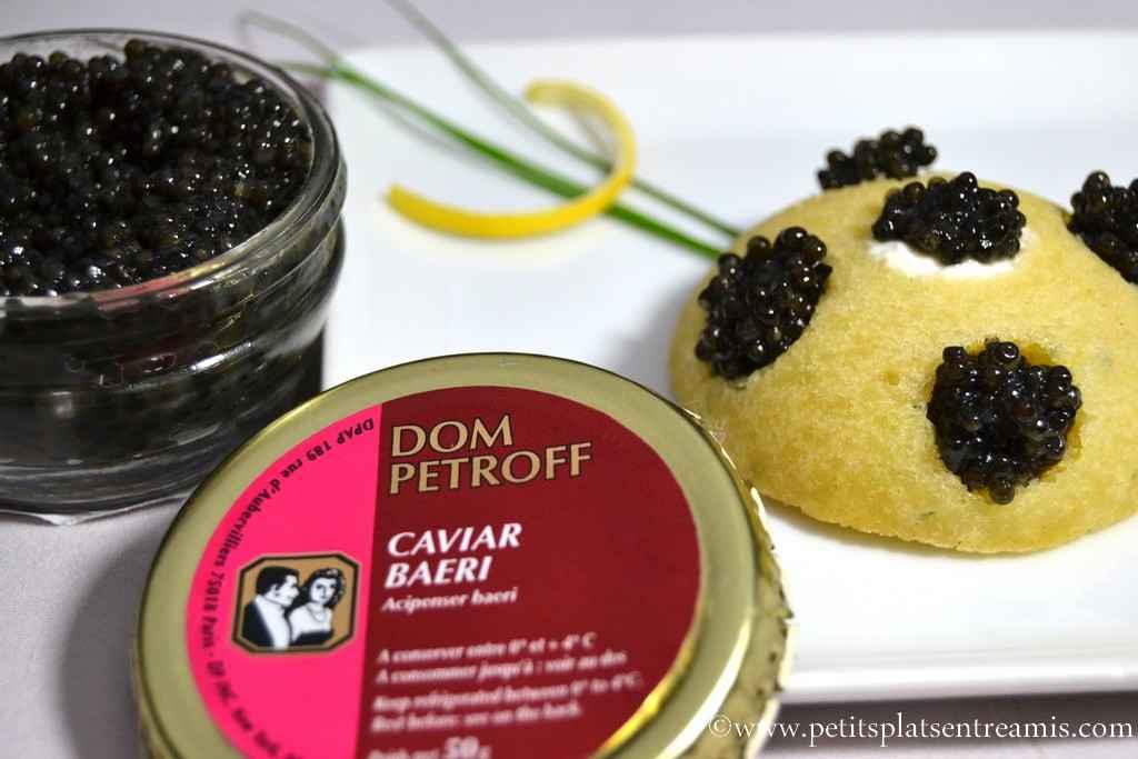 financier au caviar Dom Petroff