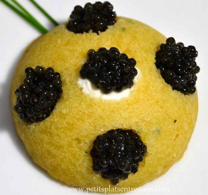 financier caviar et crème