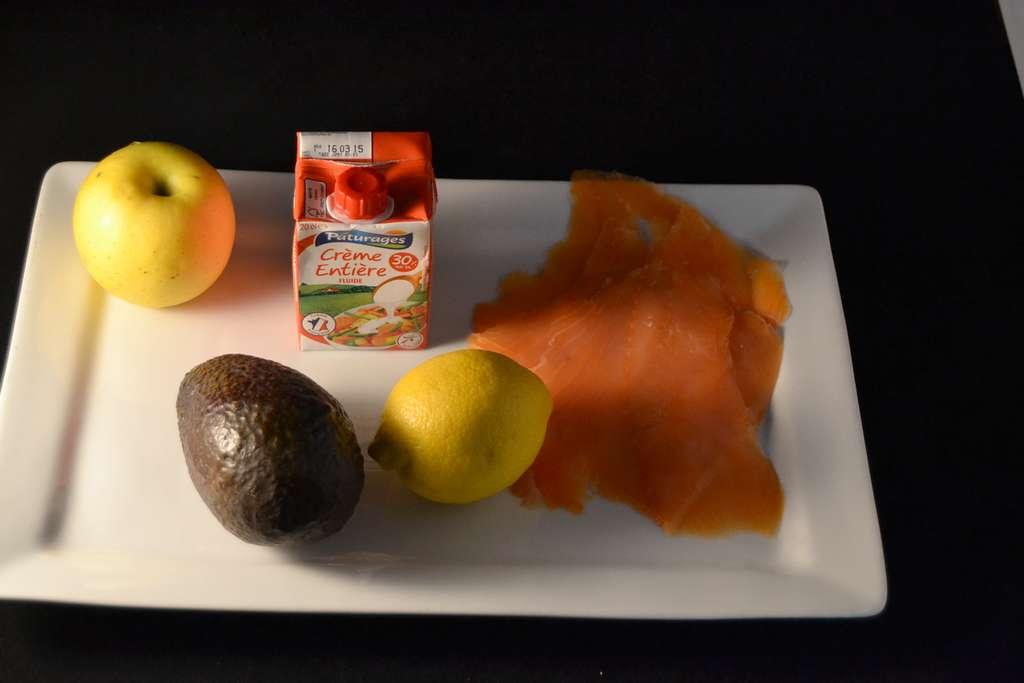 ingrédient verrine de truite