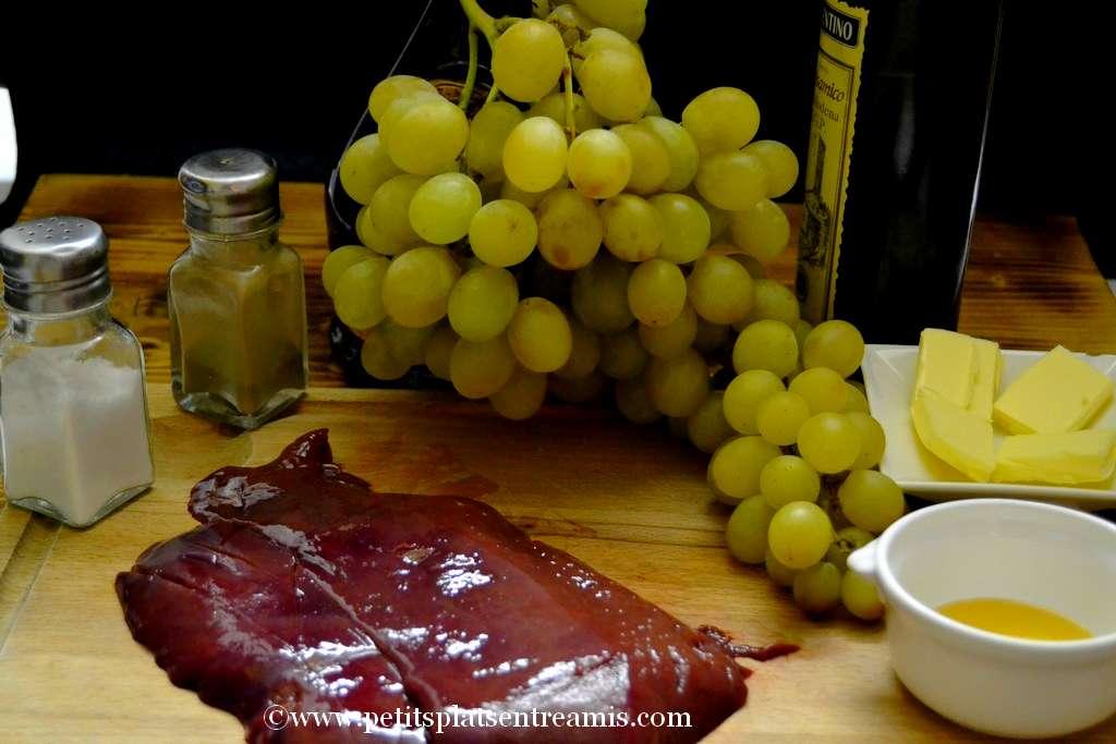 ingrédients foie de veau à l'armagnac
