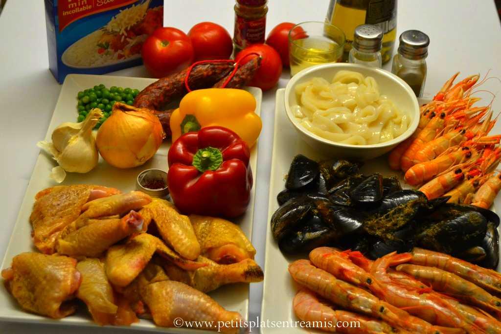 ingrédients pour paella