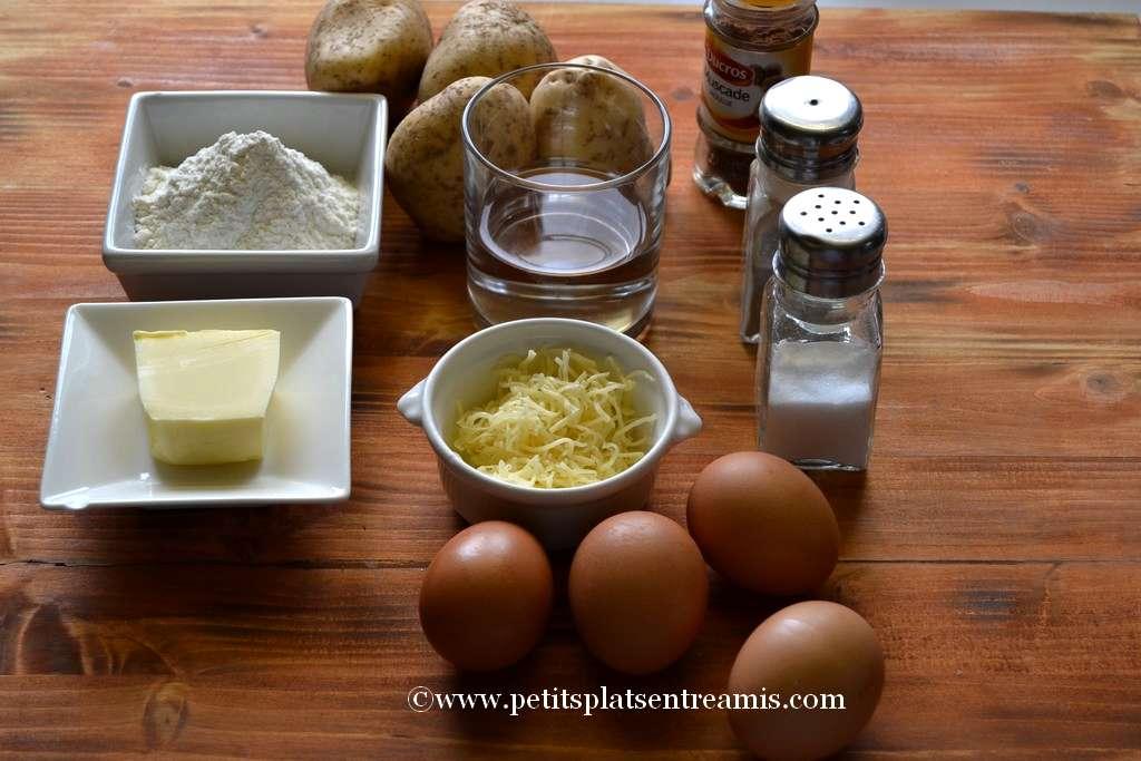 ingrédients pour pommes dauphine