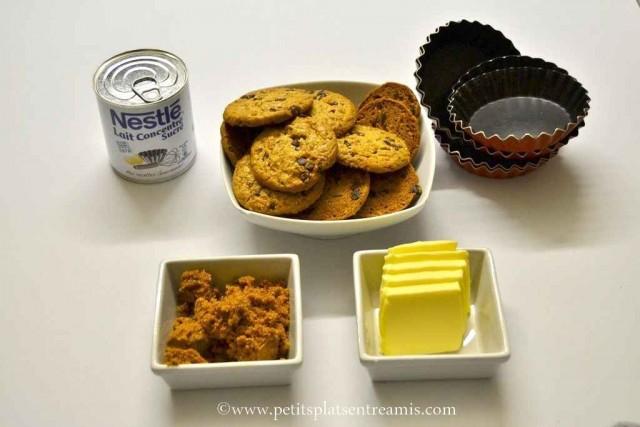 ingrédients pour tartelettes au caramel