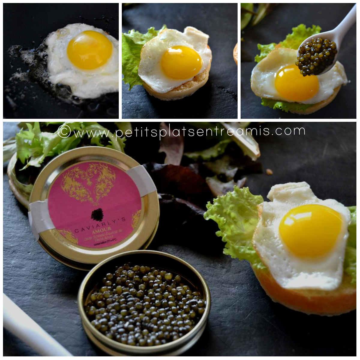 montage mini burger au caviar