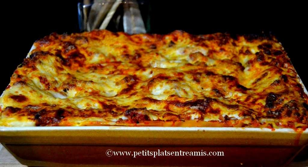 plat de lasagnes