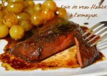 Foie de veau flambé à l'armagnac
