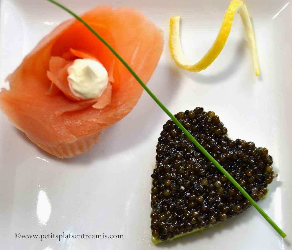 Gros plan sur coeur de Caviar