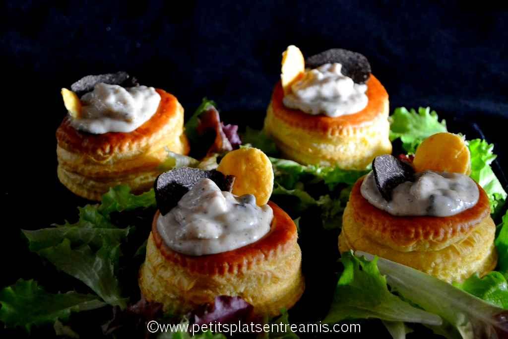 assiette de vols au vent à la truffe & boudin blanc