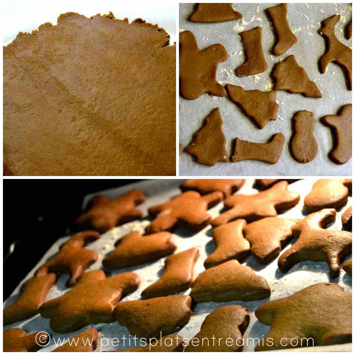 cuisson des biscuits de Noël en pain d'épices