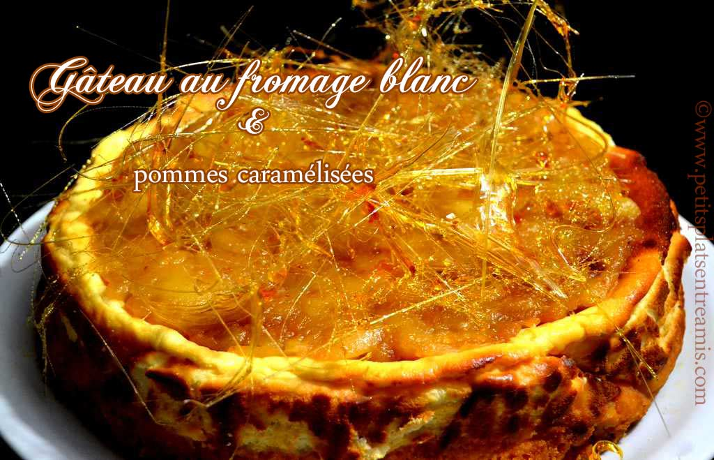 gâteau-au-fromage-blanc-et-pommes-caramélisées