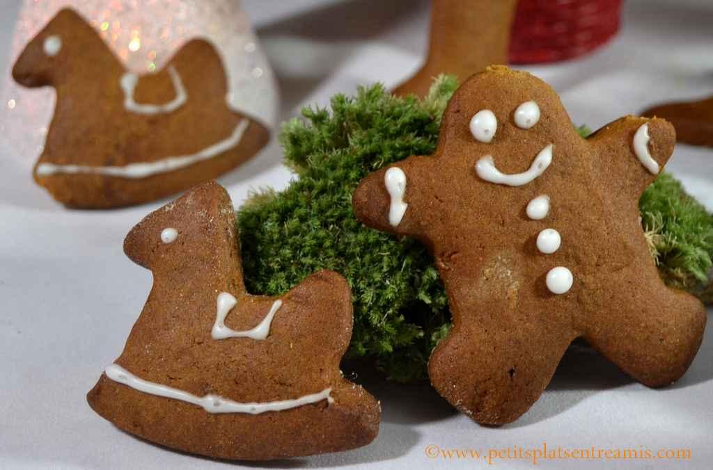 gros plan biscuits de Noël