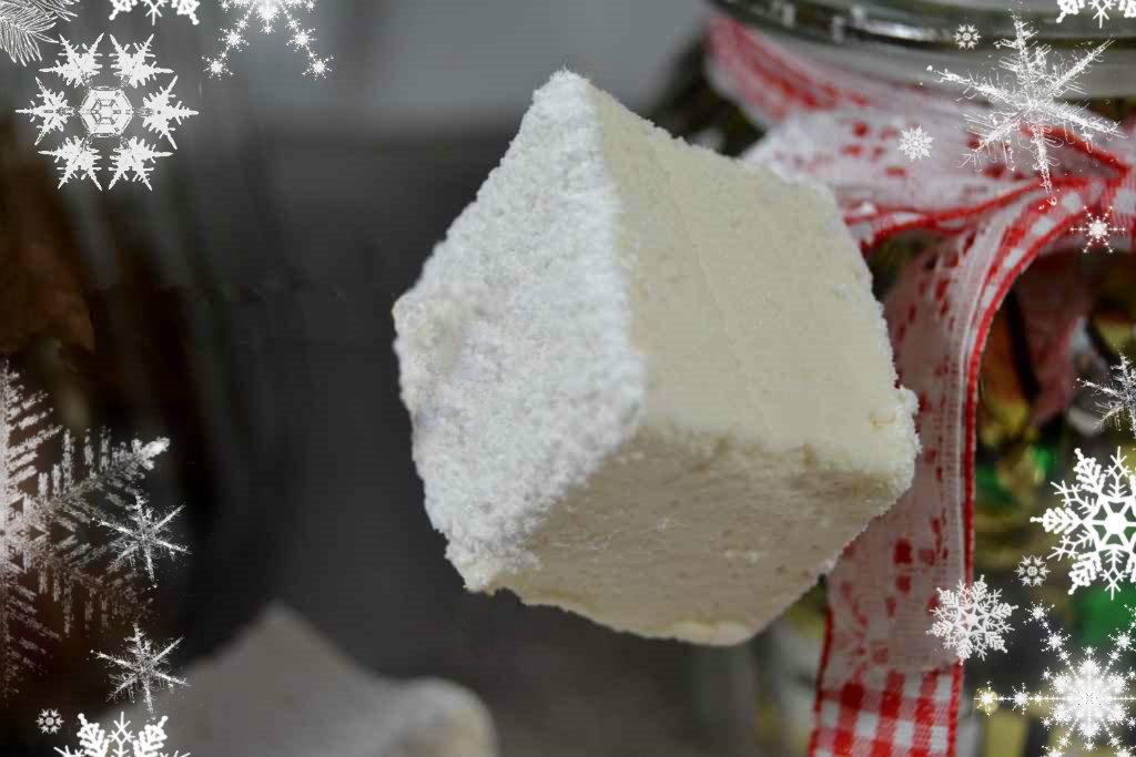 gros plan sur les marshmallows