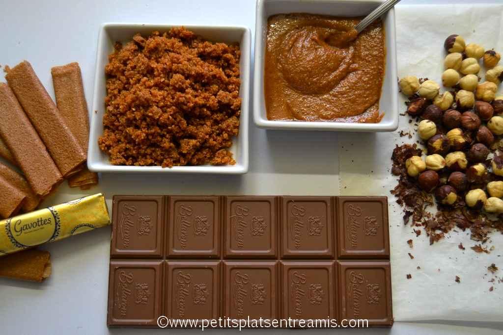 ingrédients pour petits-chocolats-pralinés
