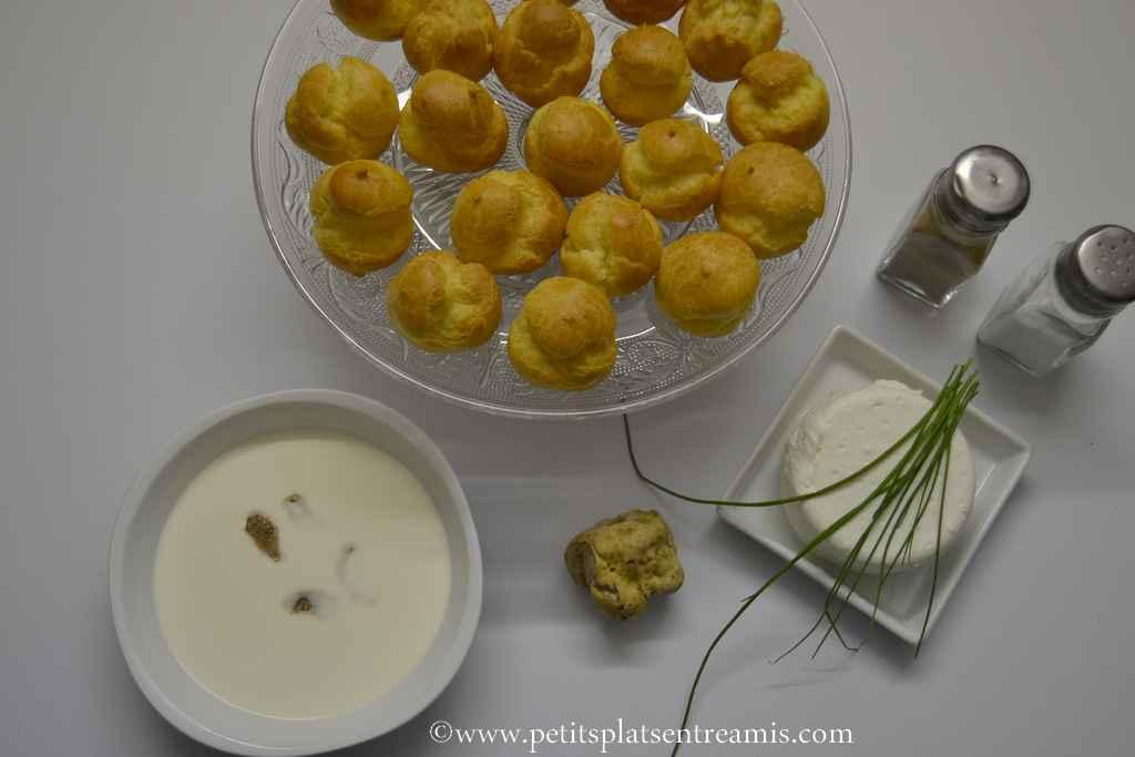 ingrédients pour petits choux à la truffe blanche