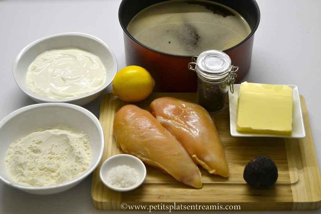 ingrédients pour suprême de volaille à la truffe