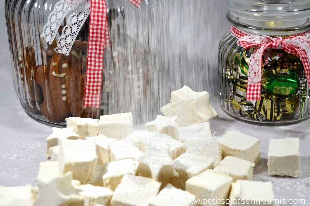 neige de sucre glace sur marshmallow