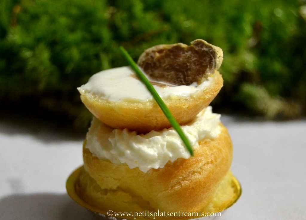 petit chou à la truffe blanche