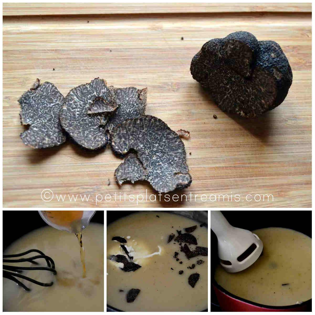 préparation sauce à la truffe noire