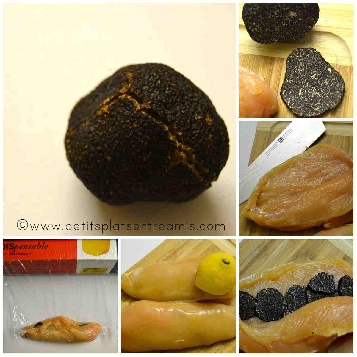 préparation suprême de volaille à la truffe noire