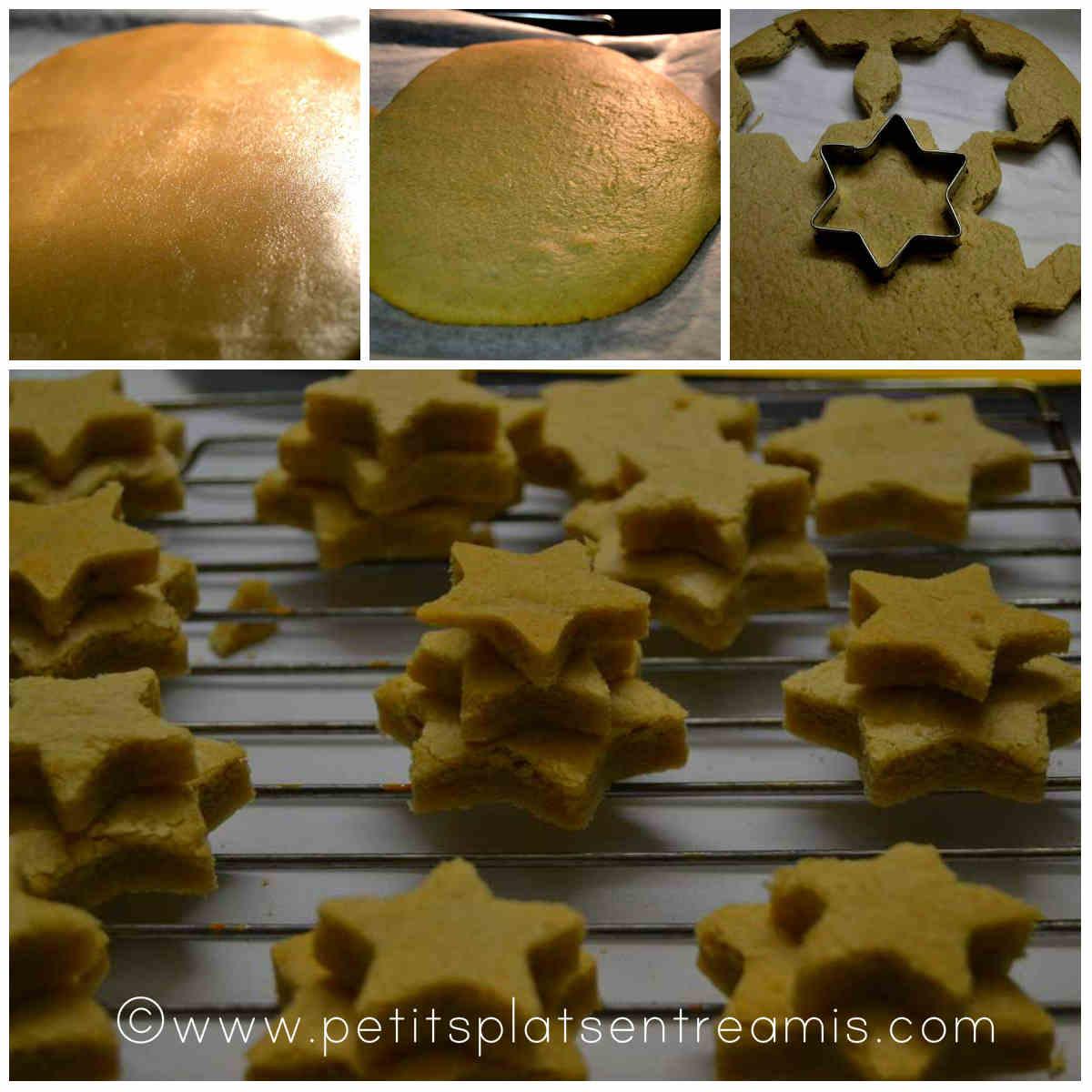 réalisation des étoiles de Noël à la cannelle