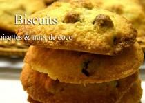 Biscuits noisettes et noix de coco