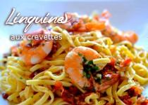 Linguines aux crevettes