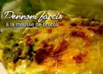Pennoni farcis à la mousse de brocoli