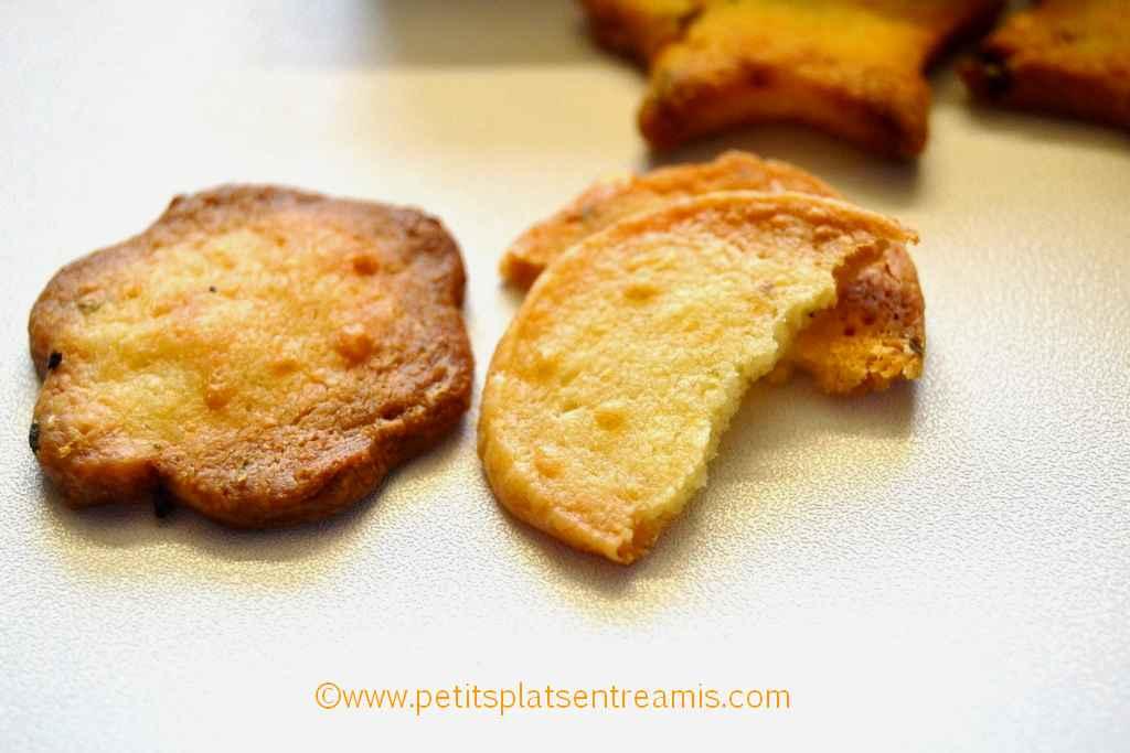 bouchée de crackers au parmesan