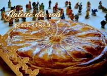 Galette des rois, poires, chocolat