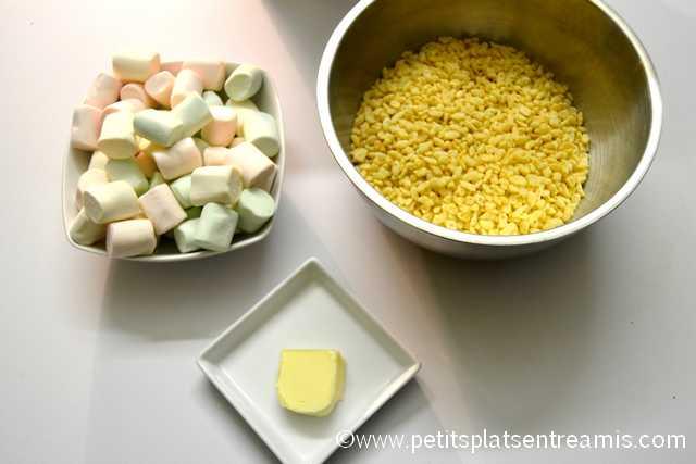 ingrédients pour rice krispies treats