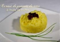 Ecrasé de pommes de terre à l'huile de truffes