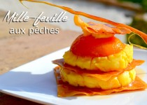 Mille-feuille aux pêches