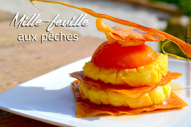 Mille-feuille-aux-pêches