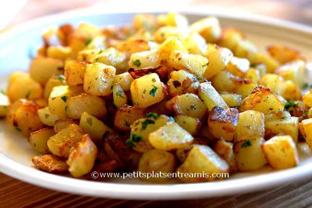assiette de pommes de terre sautées