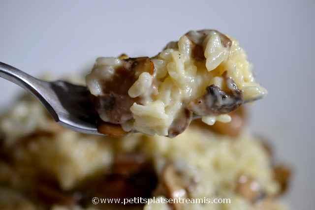 bouchée de risotto aux champignons