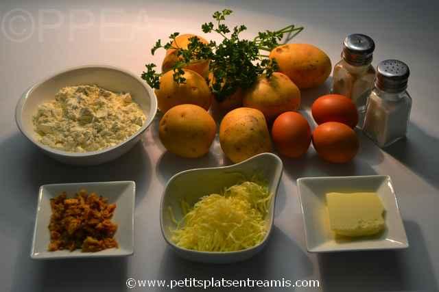 ingrédients gâteau de pommes de terre